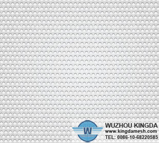 White perforated metal sheet