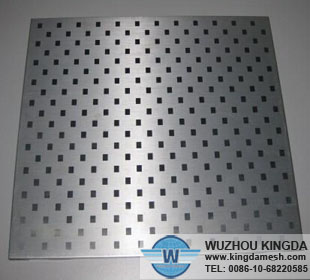 Square hole perforated stainless steel sheet
