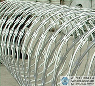 PVC Coated spiral barbed wire