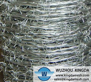Barbed stainless steel wire mesh