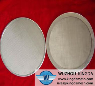 Stainless woven mesh filter disc