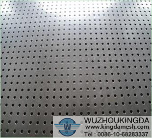 Aluminum plated punched mesh