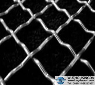Mine sieving crimped wire mesh