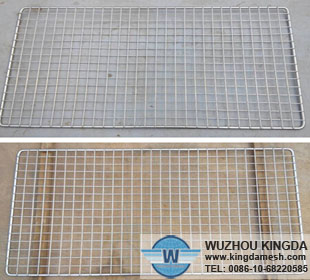 Metal grid wire barbecue rack