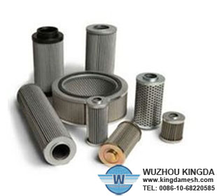 Pleated oil filter cartridge