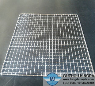 Square metal barbecue grid