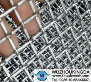 Crimped wire mesh screen netting