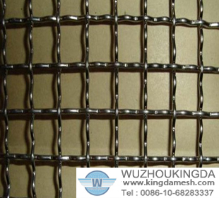 Brass crimped wire netting