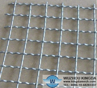 Heat-resistant crimped wire netting