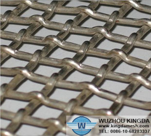 Galvanized crimped wire mesh panel