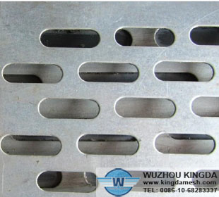 Slotted stainless steel sheet