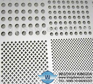 Holes perforated metal sheet