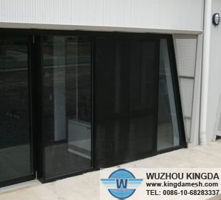 Powder coated stainless security window screen