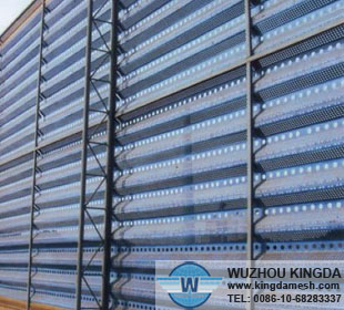 Perforated metal air screen