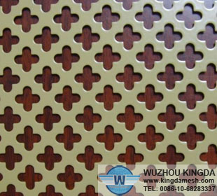 Decorative perforated stainless steel sheet