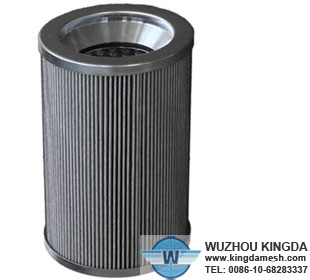 Stainless pleated mesh filter