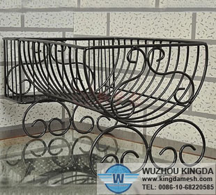 Black iron dish rack