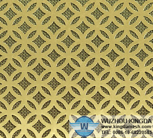 Decorative metal mesh screen