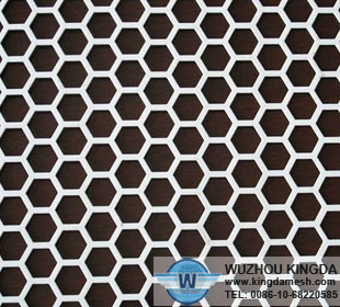 Hexagon perforated metal sheet