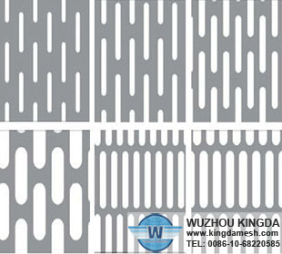 Slotted hole perforated sheet