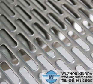 Stainless steel slotted sheets