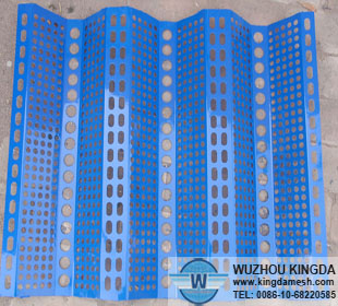Anti-wind & dust perforated sheet mesh
