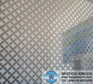 Decorative perforated metal sheets