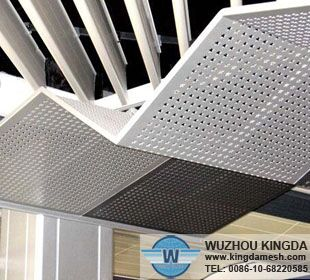 Perforated sheet metal screen decorative
