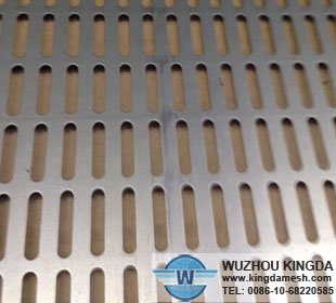 Slotted sheet material