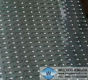 Aluminum slotted metal plate