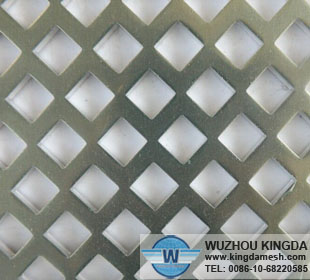 Diamond perforated metal