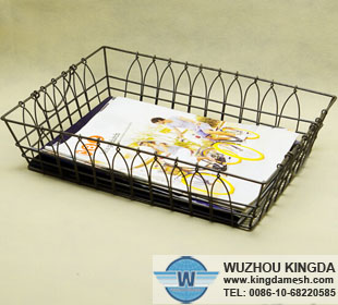 Wire letter trays