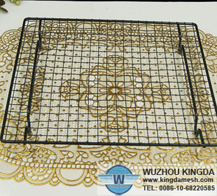 Powder coated wire grids black