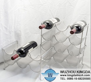 Mesh wine bottle holder