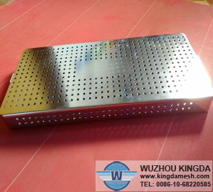 Rectangular perforated metal baskets