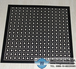 Black coated perforated metal