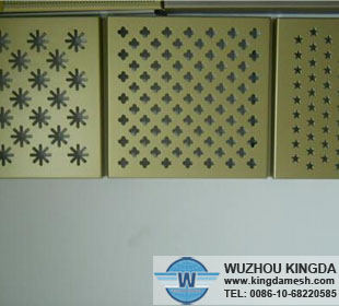 Powder coated perforated aluminum sheet