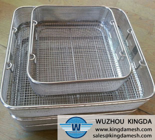 Square wire mesh basket