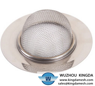 Wire mesh sink strainer
