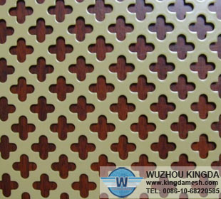 Powder coated perforated mesh