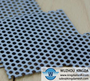 Metal perforated panel