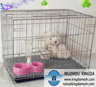 Steel wire pet cage