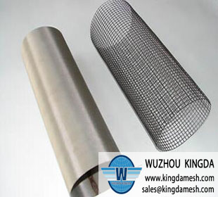 Woven wire mesh tube
