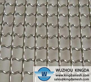 Crimped woven wire screen