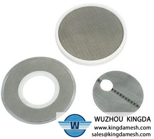 Stainless steel woven filter disc
