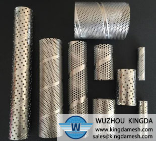 Stainless steel metal perforated tube