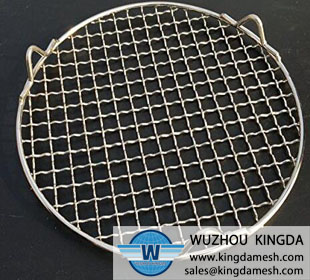Steel round roasting net