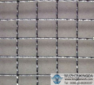 Pre-crimped wire cloth