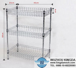 Kitchen wire storage shelf
