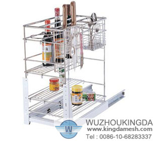Kitchen utensil corner shelf
